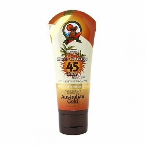 Australian Gold Premium Coverage SPF 45 Sheer Faces W/Bronzer - Sunscreens - Australian