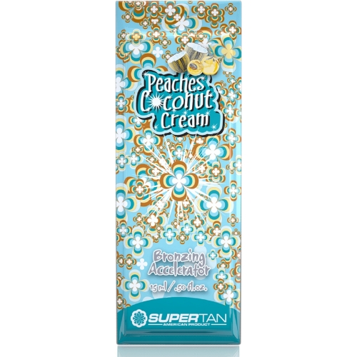 Supertan Peaches Coconut 15ML - Single Serving Packs - Supertan