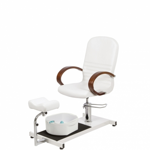 Pedicure armchair with bathtub