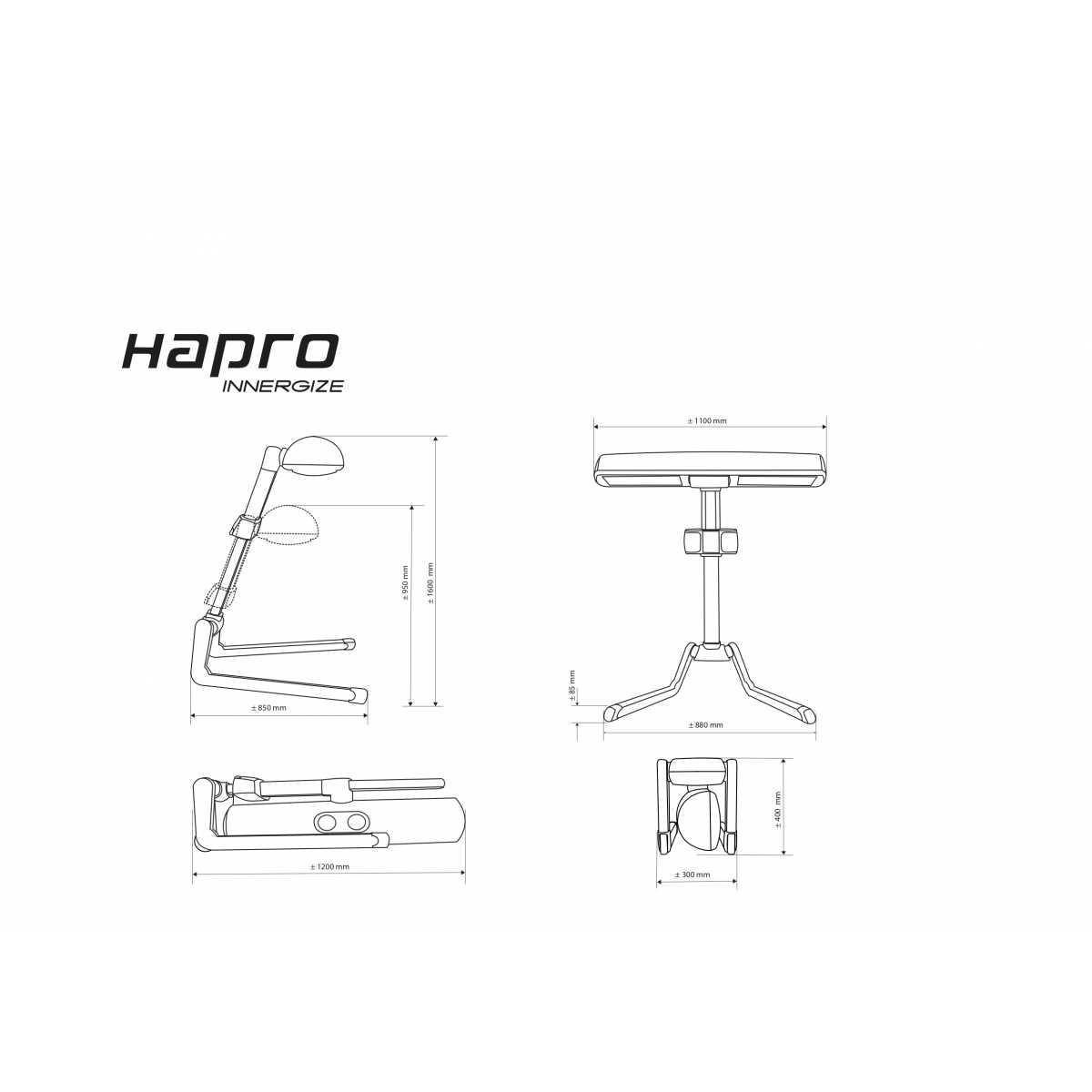 Hapro HP8580 Benessere Innergize Lettino compatta, di colore Bianco - Solarium