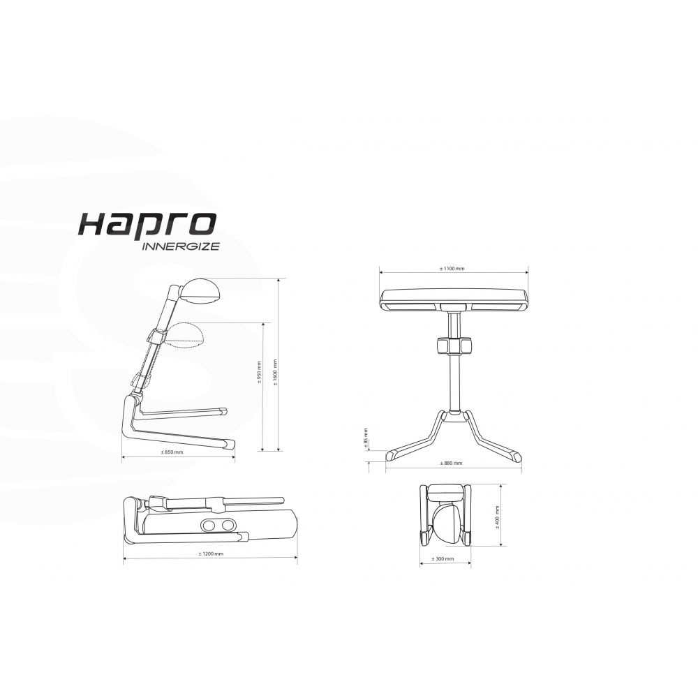 Hapro HP8580 Wellness Innergize Sunbed compact White