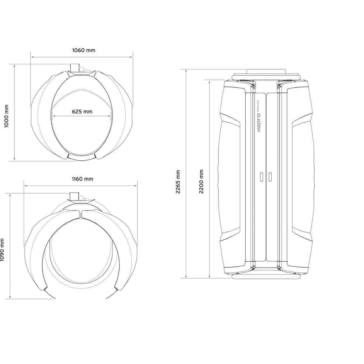 Hapro Proline 28V - Solário vertical - Solários Domésticos - Hapro