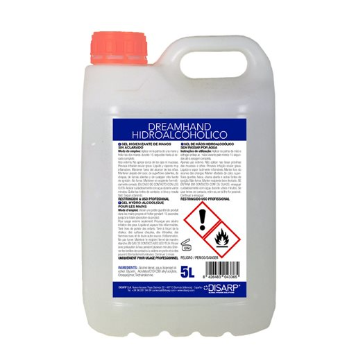 Gel hand sanitizer Hidroalcohol 5L