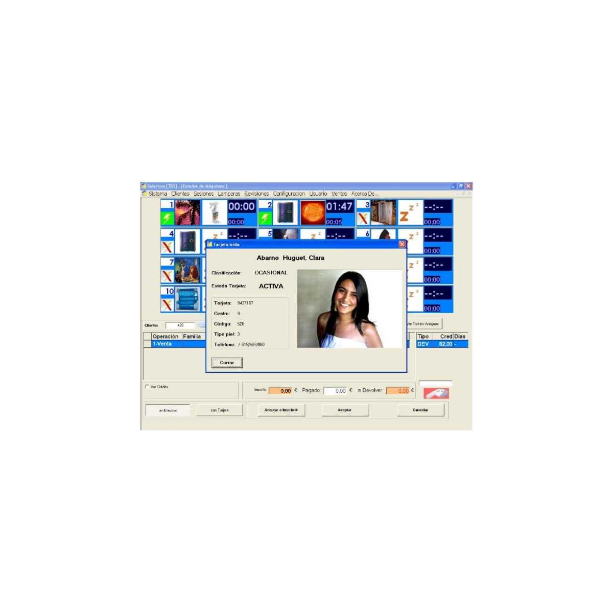 Software completo de gestão de centros de bronzeamento - Sistemas de controle -